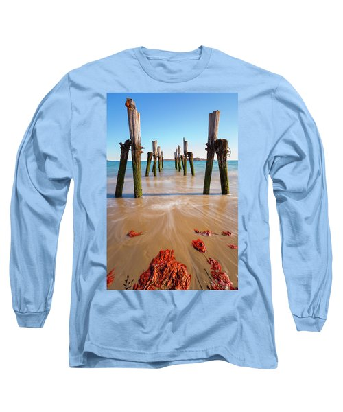 Long Sleeve T-Shirt featuring the photograph Returning To The Ocean by Brian Hale