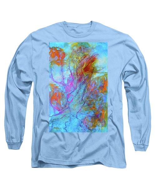 Rhapsody In Blue Long Sleeve T-Shirt by Mary Sullivan