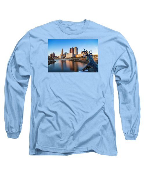 Rich Street Bridge Columbus Long Sleeve T-Shirt by Alan Raasch