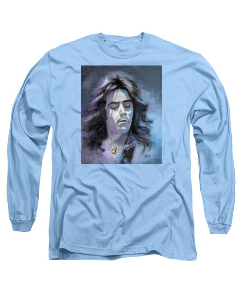 Long Sleeve T-Shirt featuring the drawing Rick At Play by Terry Webb Harshman