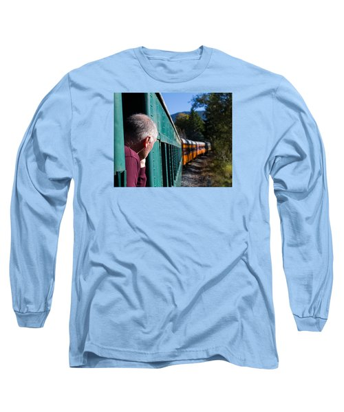 Riding The Train 8x10 Long Sleeve T-Shirt