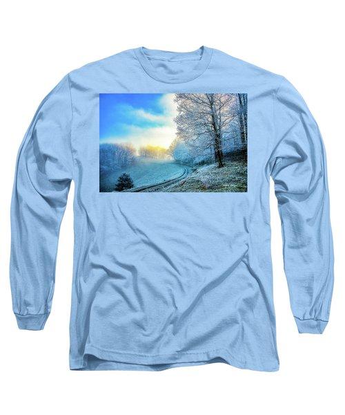 Rime Ice Sunrise Long Sleeve T-Shirt