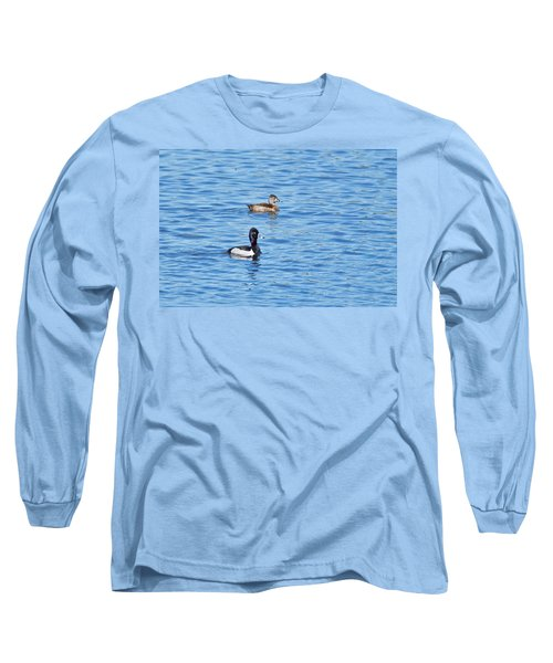 Long Sleeve T-Shirt featuring the photograph Ring-neck Ducks by Michael Peychich