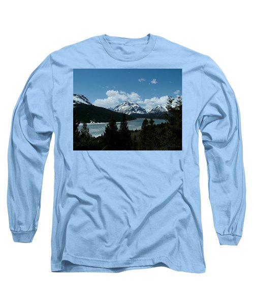 Rising Wolf And Two Medicine Lake Long Sleeve T-Shirt