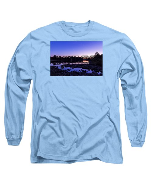 River Crossing Long Sleeve T-Shirt by Alan Raasch
