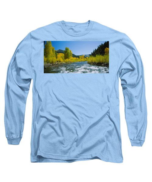River Flowing In The Forest, San Miguel Long Sleeve T-Shirt