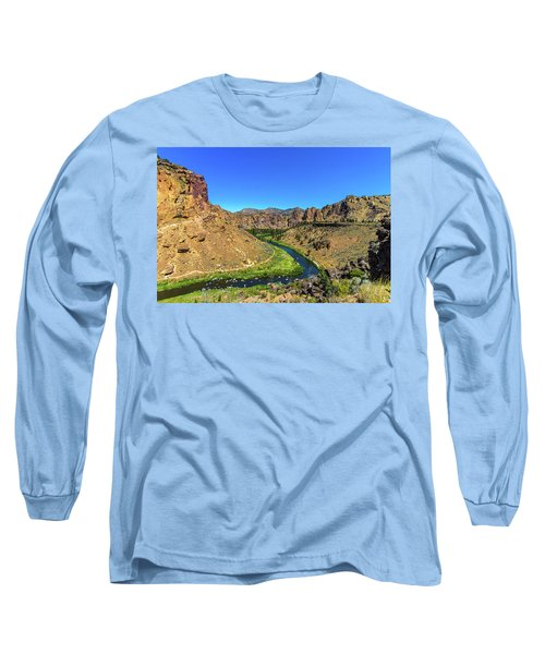 Long Sleeve T-Shirt featuring the photograph River Through Mountains by Jonny D