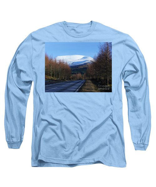 Long Sleeve T-Shirt featuring the photograph Road To Aonach Mor  by Phil Banks