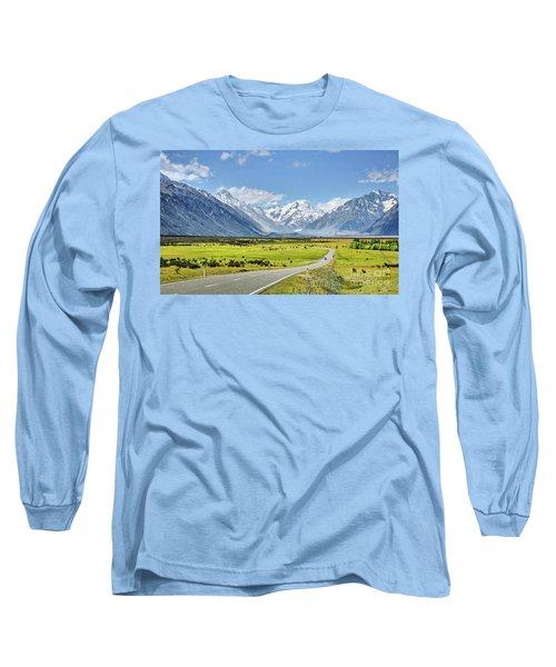 Road To Aoraki Long Sleeve T-Shirt