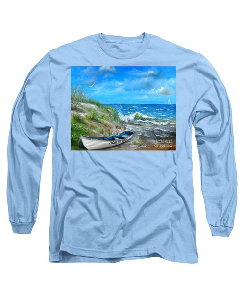 Robert Moses Beach Long Sleeve T-Shirt by Patrice Torrillo