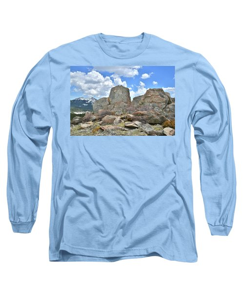 Rock Cropping At Big Horn Pass Long Sleeve T-Shirt