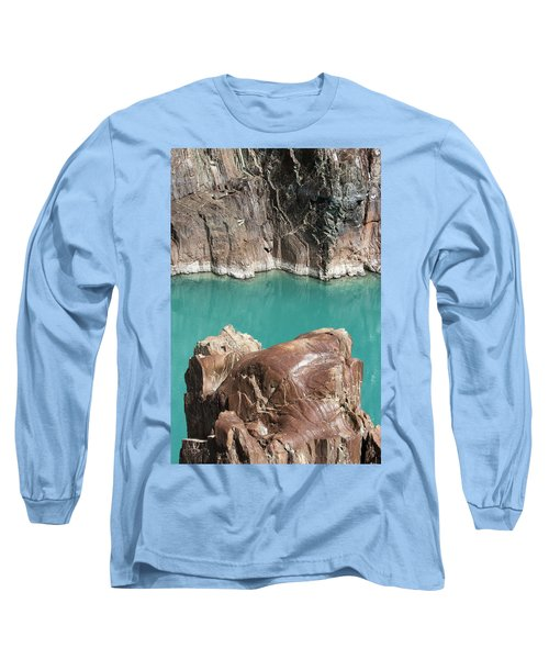 Long Sleeve T-Shirt featuring the photograph Rock Formation Of Zanskar, Ladakh, 2009 by Hitendra SINKAR