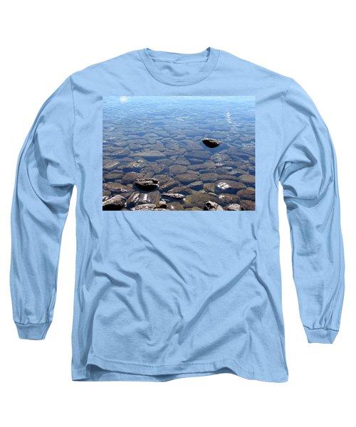 Rocks In Calm Waters Long Sleeve T-Shirt