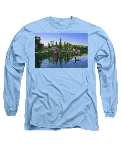 Rocky Shore Lodge Long Sleeve T-Shirt