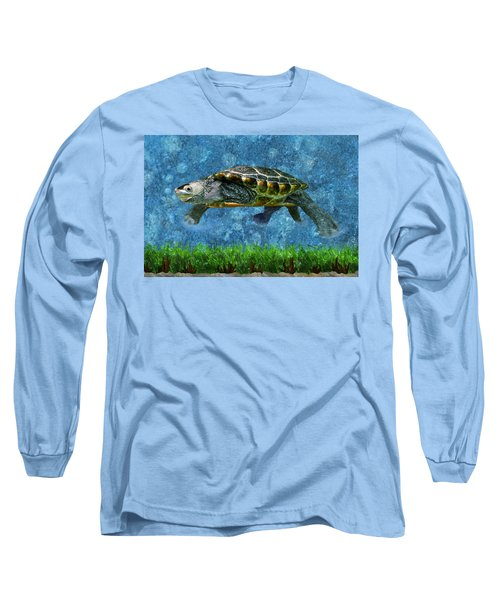 Rodney The Diamondback Terrapin Turtle Long Sleeve T-Shirt