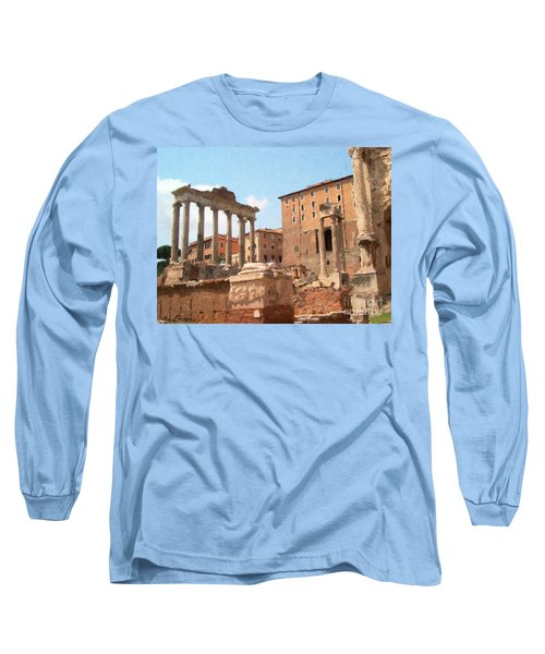 Rome The Eternal City And Temples Long Sleeve T-Shirt