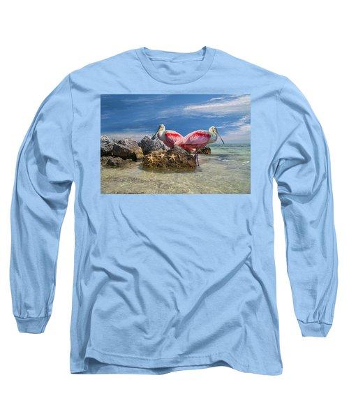 Roseate Spoonbill Florida Keys Long Sleeve T-Shirt