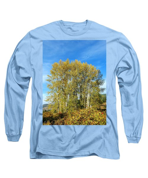 Rosehips And Cottonwoods Long Sleeve T-Shirt