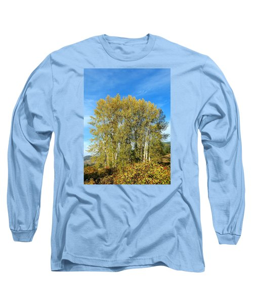 Rosehips And Cottonwoods Long Sleeve T-Shirt by Will Borden
