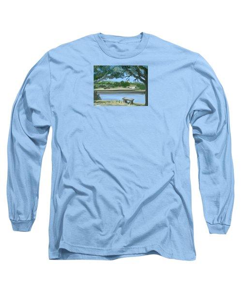 Rosemary Lake Long Sleeve T-Shirt by Jean Pacheco Ravinski