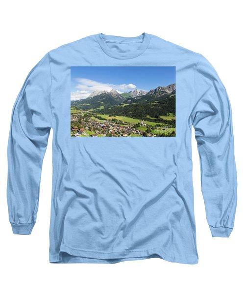 Rougemont Village In Switzerland Long Sleeve T-Shirt