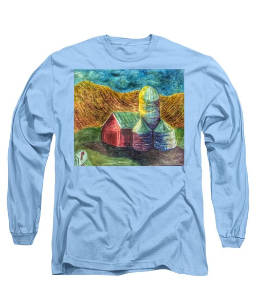 Rural Farm Long Sleeve T-Shirt by Jame Hayes