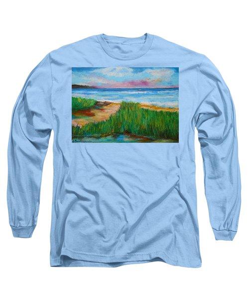 Russland Beach / Sweden Long Sleeve T-Shirt