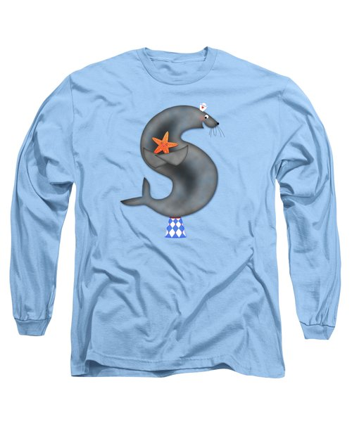 S Is For Seal And Starfish Long Sleeve T-Shirt