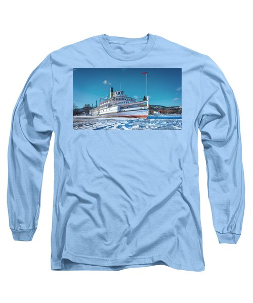 Long Sleeve T-Shirt featuring the photograph S. S. Sicamous by John Poon