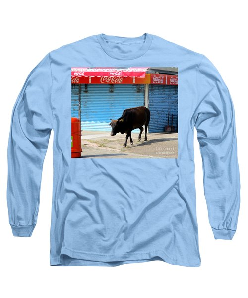 Long Sleeve T-Shirt featuring the photograph Sacred Cow 1 by Randall Weidner