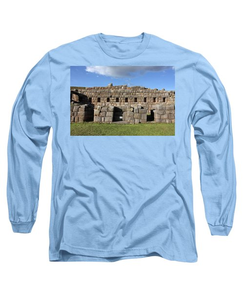 Long Sleeve T-Shirt featuring the photograph Sacsaywaman Cusco, Peru by Aidan Moran