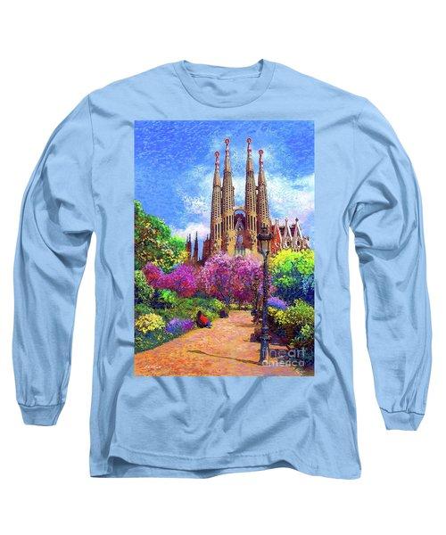 Sagrada Familia And Park Barcelona Long Sleeve T-Shirt