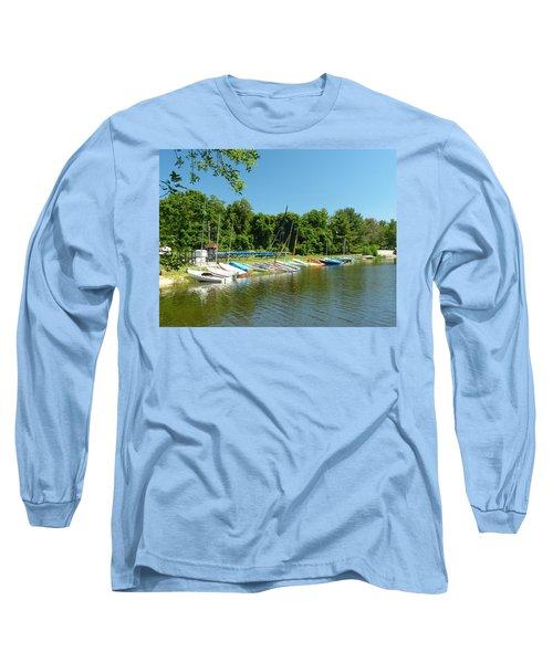 Sail Boats At Rest Long Sleeve T-Shirt by Donald C Morgan