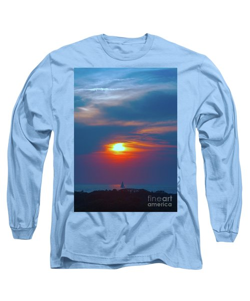 Sailboat Sunset Long Sleeve T-Shirt by Todd Breitling