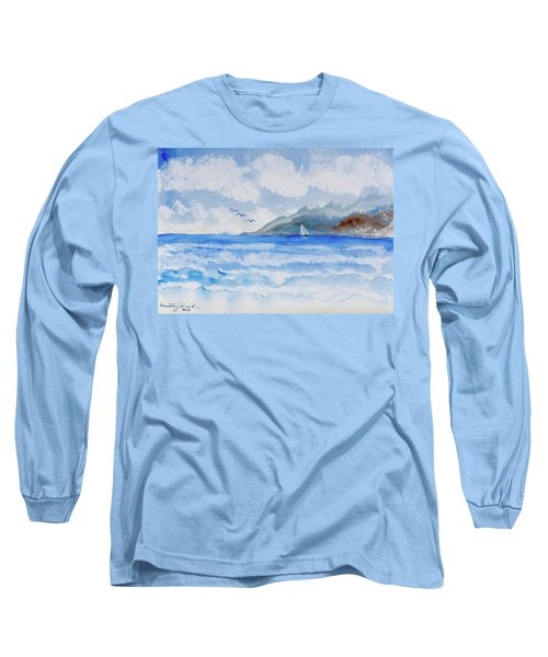 Sailing Into Moorea Long Sleeve T-Shirt