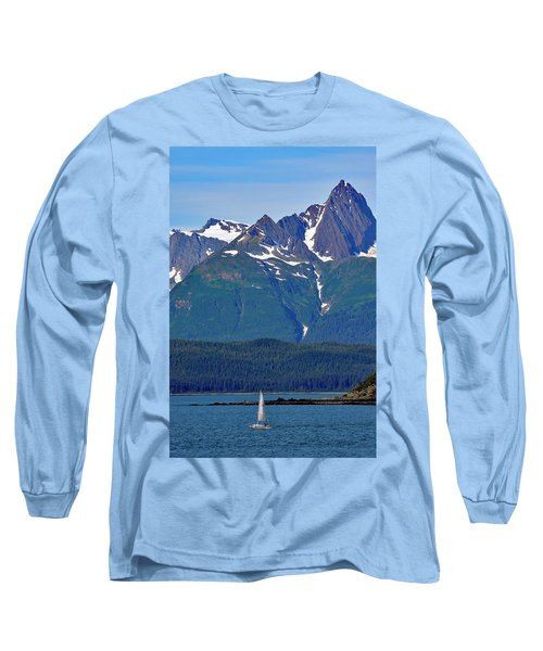 Long Sleeve T-Shirt featuring the photograph Sailing Lynn Canal by Cathy Mahnke