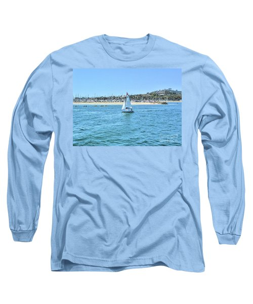 Sailing Out Of The Harbor Long Sleeve T-Shirt