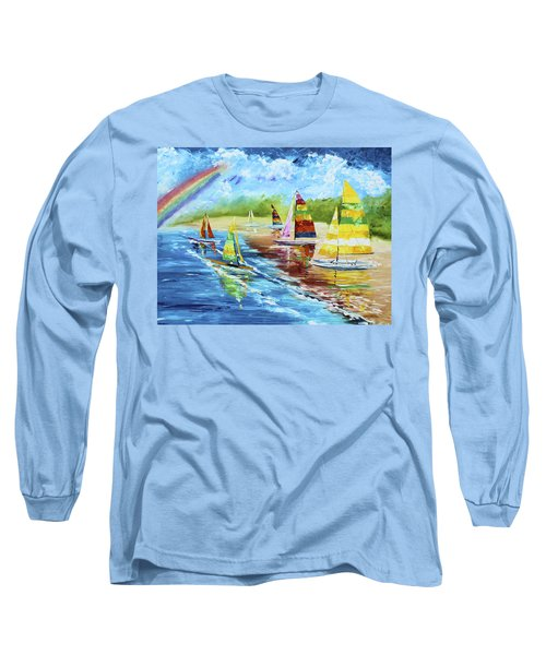 Sails On The Beach Long Sleeve T-Shirt