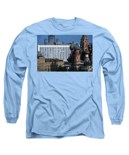 Saint Basils Cathedral In Moscow 1967 Long Sleeve T-Shirt