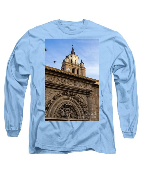 Long Sleeve T-Shirt featuring the photograph Saint Hieronymus Facade Of Calahorra Cathedral by RicardMN Photography