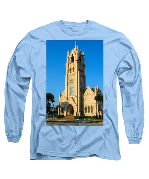 Saint Patrick Catholic Church Of Galveston Long Sleeve T-Shirt by Tikvah's Hope