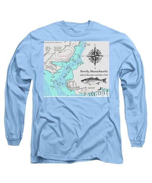 Salter's Point Map Long Sleeve T-Shirt
