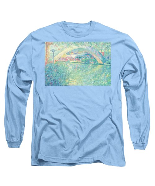 San Antonio Riverwalk Long Sleeve T-Shirt by Felipe Adan Lerma