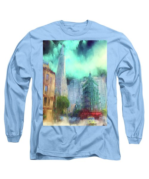 San Francisco Long Sleeve T-Shirt by Michael Cleere