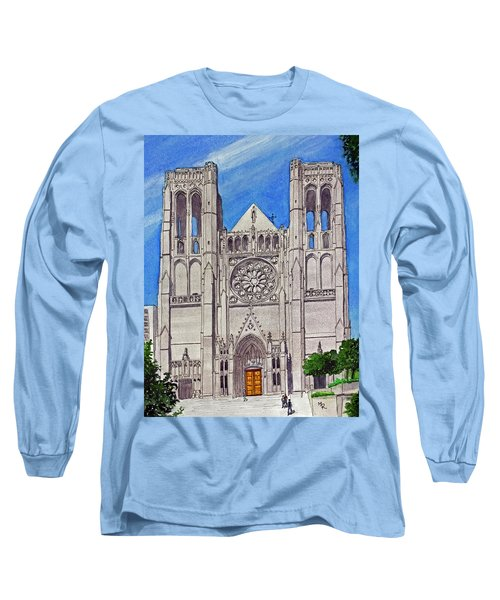 San Francisco's Grace Cathedral Long Sleeve T-Shirt by Mike Robles