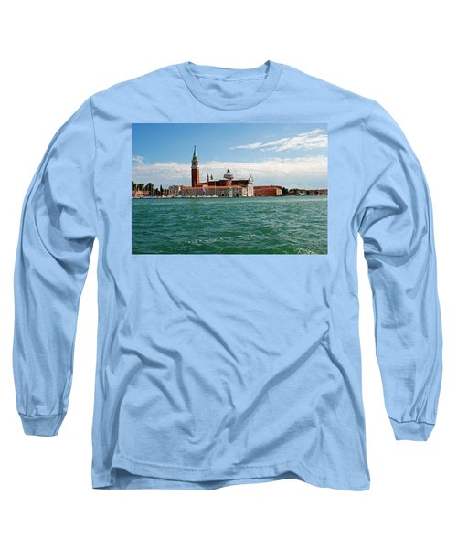 Long Sleeve T-Shirt featuring the photograph San Giorgio Maggiore Canal Shot by Robert Moss