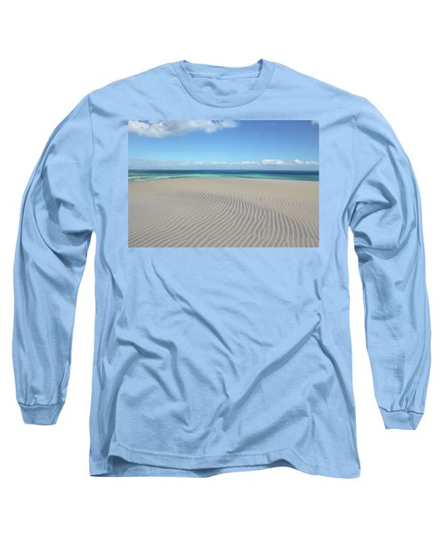 Sand Dune Ripples And The Ocean Beyond Long Sleeve T-Shirt
