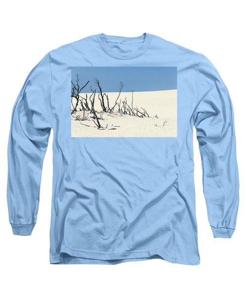 Long Sleeve T-Shirt featuring the photograph Sand Dune With Dead Trees by Chevy Fleet