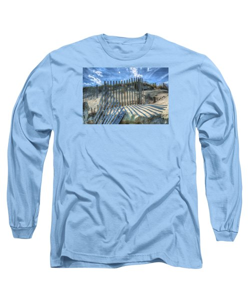Sand Fence Long Sleeve T-Shirt by Greg Reed