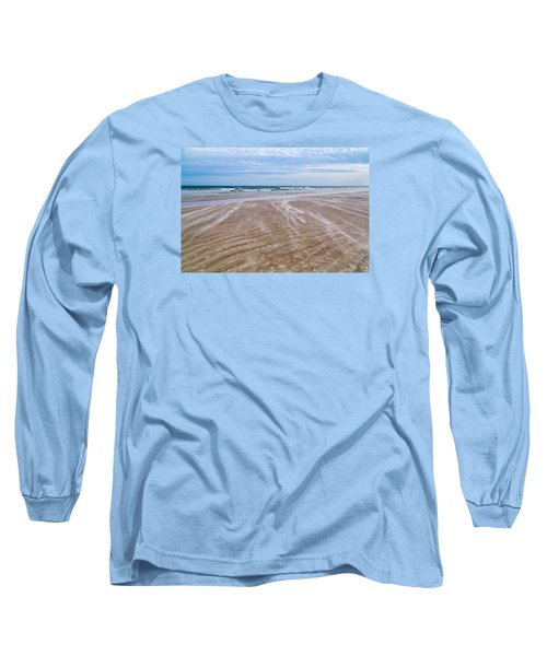 Long Sleeve T-Shirt featuring the photograph Sand Swirls On The Beach by John M Bailey